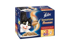 Felix Sensations Cat Food in Sauce - 4 Kinds of meat - 1200 g