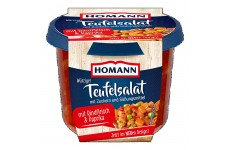 "Homann Spicy ""Teufelsalat"" with Beef and Bell Pepper - 200 g"