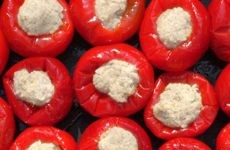 Piccadolce Cherry Peppers stuffed with Pecorino - Glass of 180 g