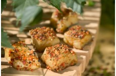 Smoked Halibut Cubes with Herbs - 200 g