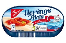 Herring Filet in Tomato Cream with Tomato Chunks - 200 g (Gut & Günstig)