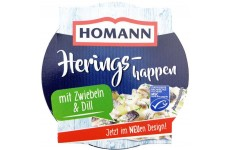 Homann Pickled Herring Salad with Onion and Dill - 200 g